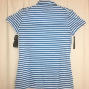 14d453a7 Nike Tops | Womens Dry Short Sleeve Striped Golf Polo | Poshmark